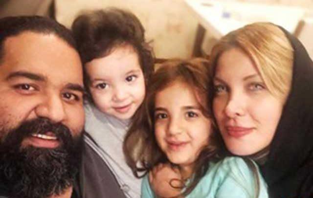 واکنش زیبای رضا صادقی با عکسی از همسر و دخترانش به قتل رومینا با داس!، عکس