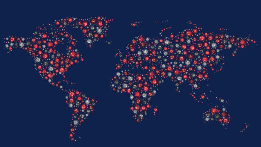 شمار موارد کرونا در دنیا از 20 میلیون گذشت ، 10 میلیون افزایش فقط در 43 روز