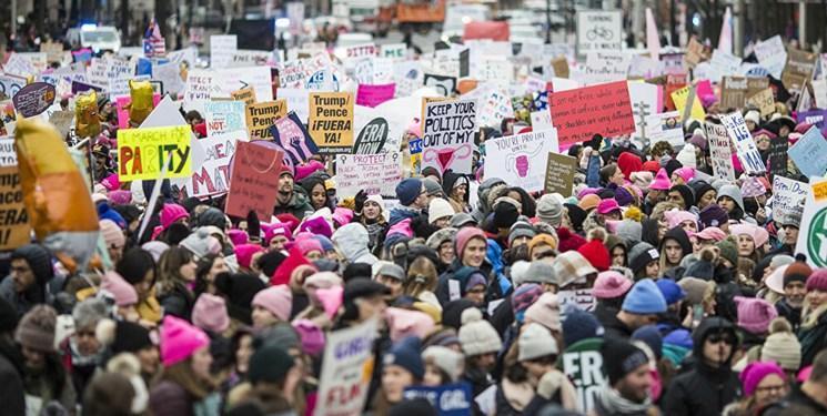 تظاهرات زنان علیه آقای رییس جمهور