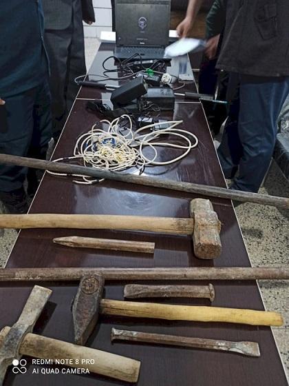 یک باند حفاری غیرمجاز در شهرستان بهمئی متلاشی شد