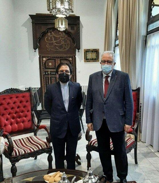 ملاقات بهرام قاسمی با رئیس مسجد عظیم پاریس