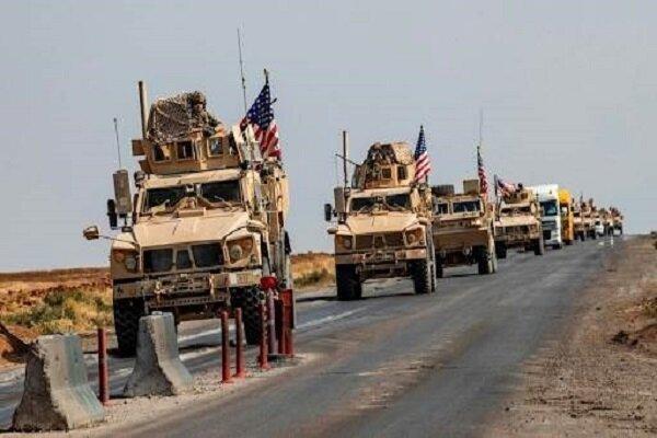 کاروان لجستیک نظامیان تروریست آمریکایی در بصره هدف نهاده شد