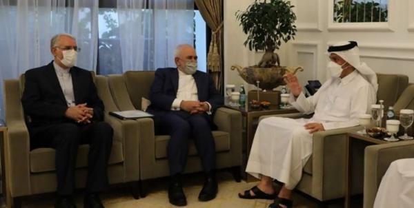 ظریف در ملاقات با همتای قطری چه گفت؟