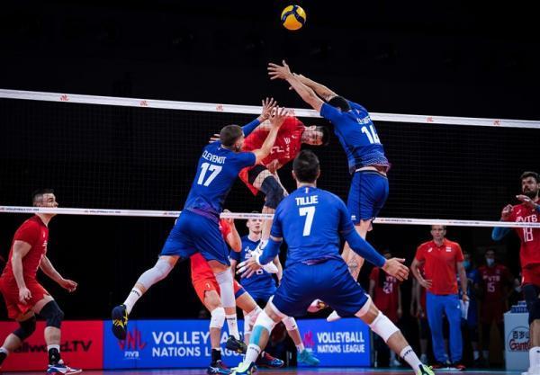لیگ ملت های والیبال، فرانسه و ژاپن پیروز شدند