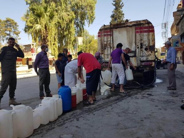 دمشق: قطع آب حسکه به وسیله ترکیه جنایت جنگی است