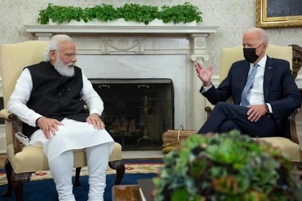 تور دهلی: جو بایدن و نخست وزیر هند در کاخ سفید ملاقات می نمایند